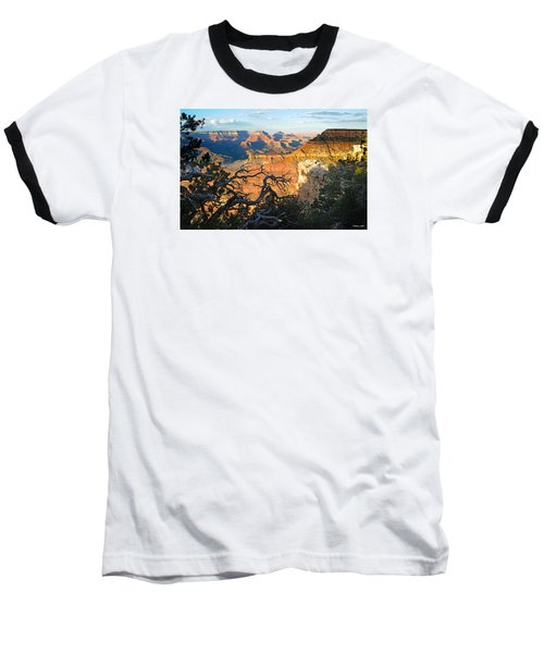 Grand Canyon South Rim - Sunset Through Trees Baseball T-Shirt
