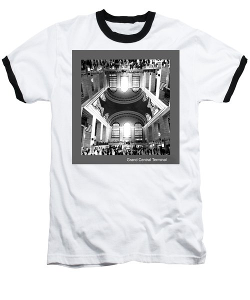 Baseball T-Shirt featuring the photograph Grand Central Terminal Mirrored by Diana Angstadt