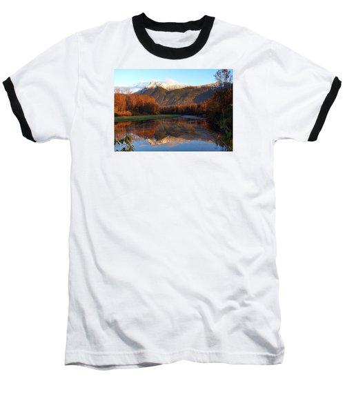 Mount Cheam, British Columbia Baseball T-Shirt by Heather Vopni