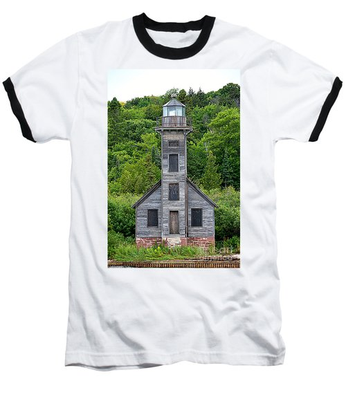 Baseball T-Shirt featuring the photograph Grand Island East Channel Lighthouse #6672 by Mark J Seefeldt