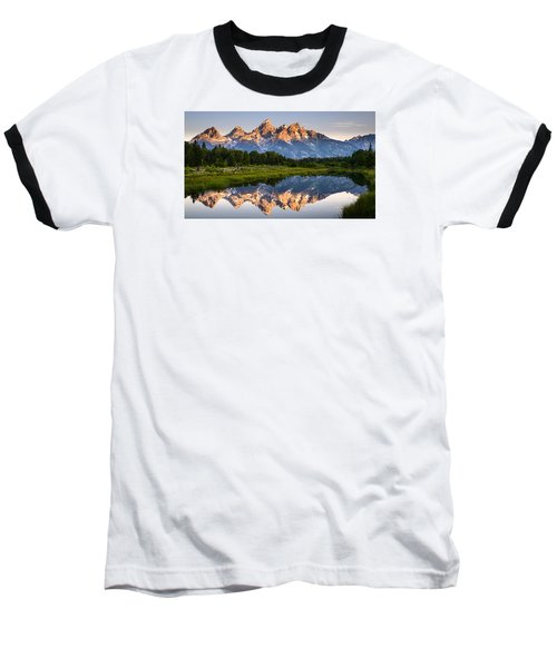 Baseball T-Shirt featuring the photograph Grand Teton Awakening by Dan Mihai