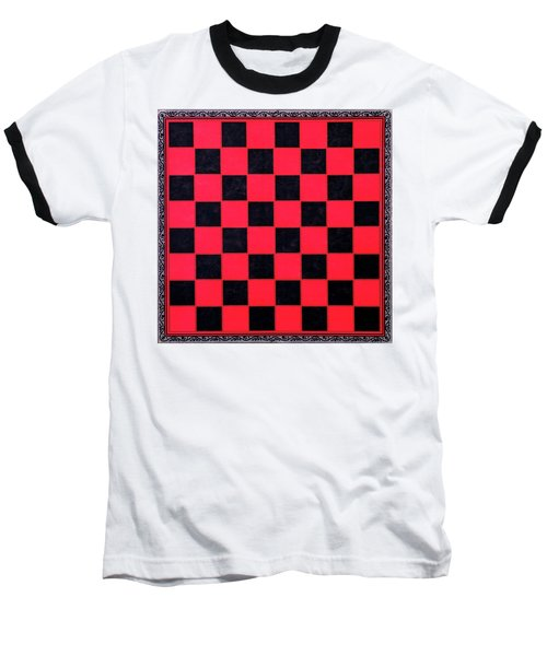 Grandpa's Checkerboard Baseball T-Shirt