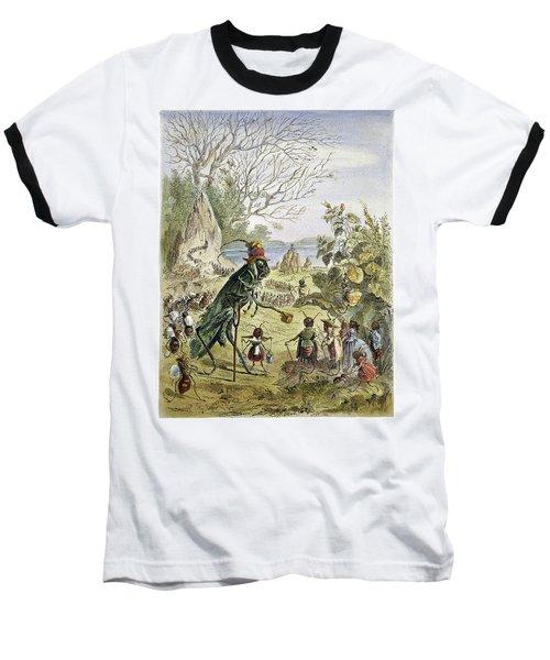 Grasshopper And Ant Baseball T-Shirt