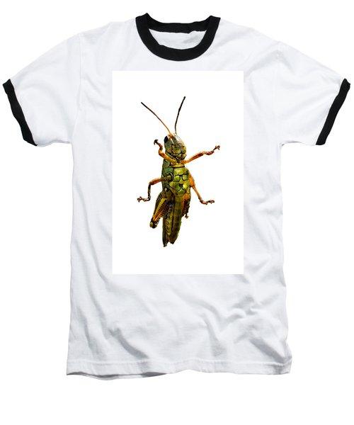 Grasshopper II Baseball T-Shirt by Gary Adkins