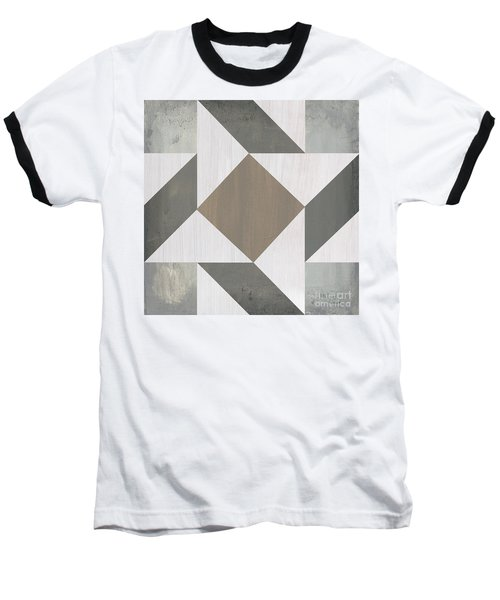 Baseball T-Shirt featuring the painting Gray Quilt by Debbie DeWitt
