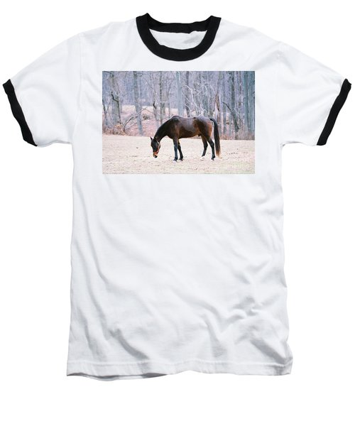 Baseball T-Shirt featuring the photograph Grazing by Polly Peacock