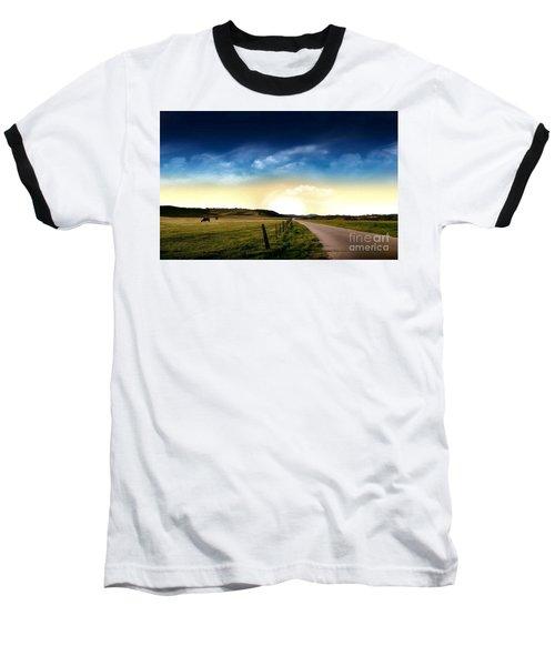 Grazing Time Baseball T-Shirt by Rod Jellison