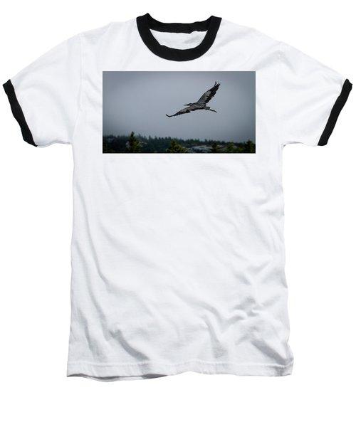 Great Blue Heron Baseball T-Shirt