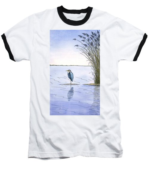 Great Blue Heron Baseball T-Shirt