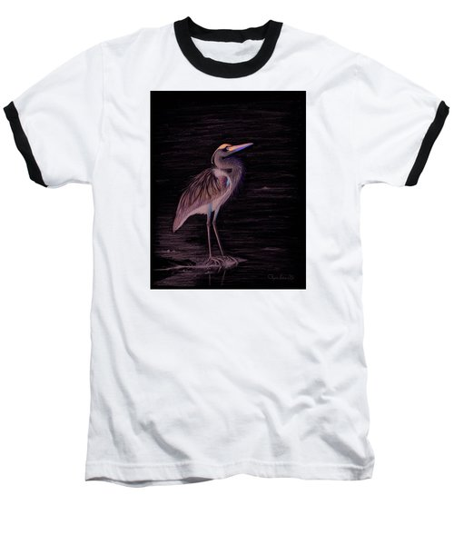 Great Blue Heron Baseball T-Shirt by Phyllis Howard