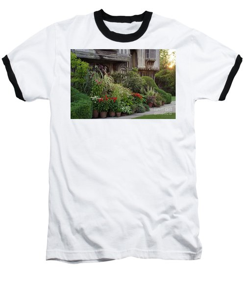 Baseball T-Shirt featuring the photograph Great Dixter House And Gardens At Sunset 2 by Perry Rodriguez