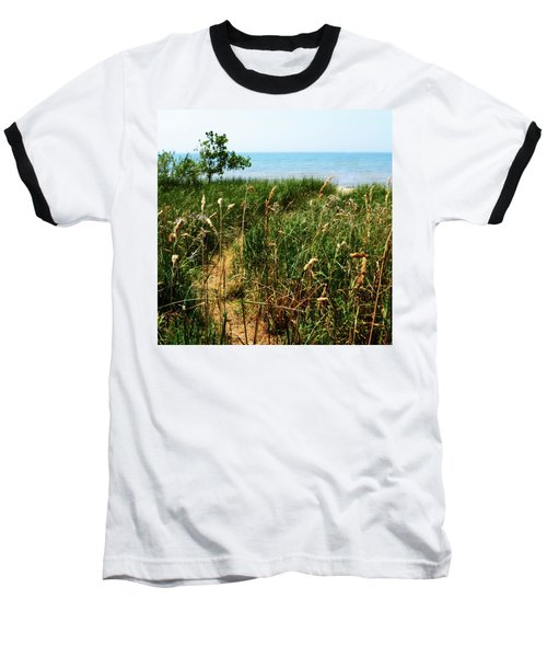 Baseball T-Shirt featuring the photograph Great Lake Beach Path by Michelle Calkins