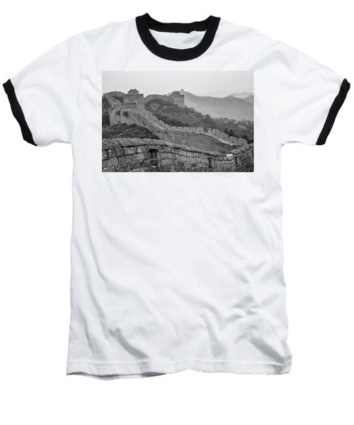 Baseball T-Shirt featuring the photograph Great Wall 7, Jinshanling, 2016 by Hitendra SINKAR