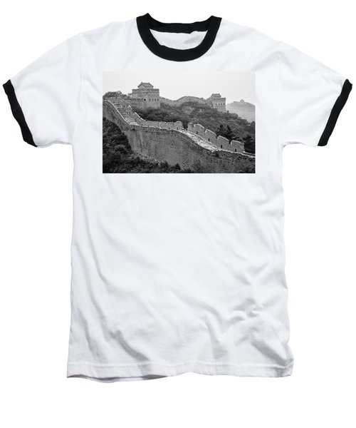 Baseball T-Shirt featuring the photograph Great Wall 8, Jinshanling, 2016 by Hitendra SINKAR