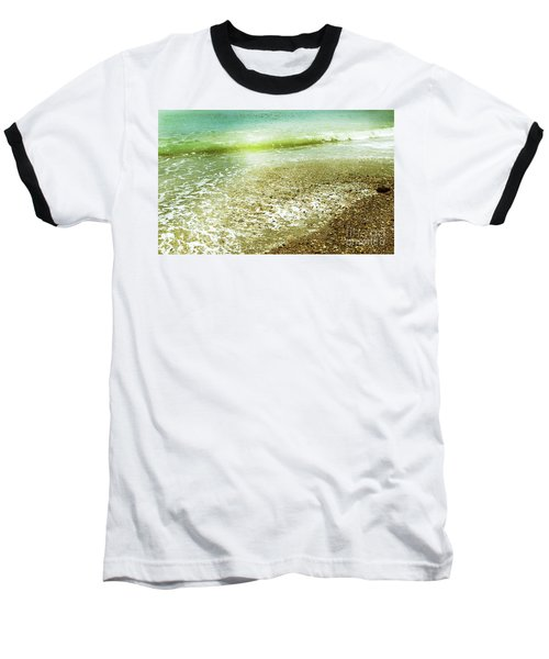 Green And Yellow Waves At Montana De Oro Beach In Spooners Cove Baseball T-Shirt