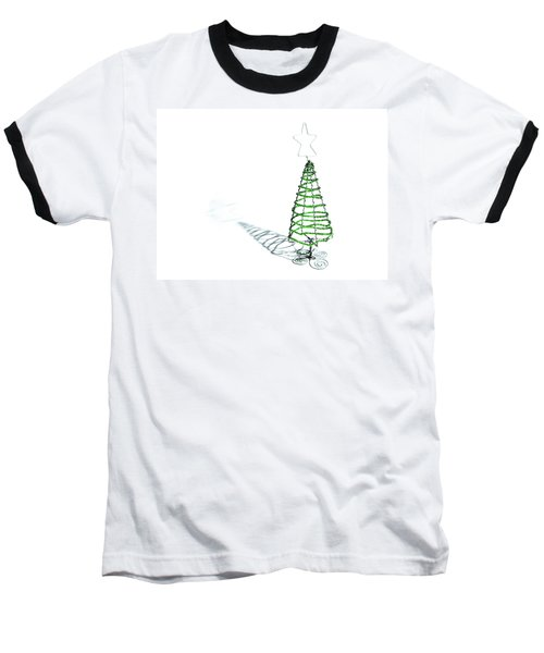 Green Bead Christmas Tree II Baseball T-Shirt