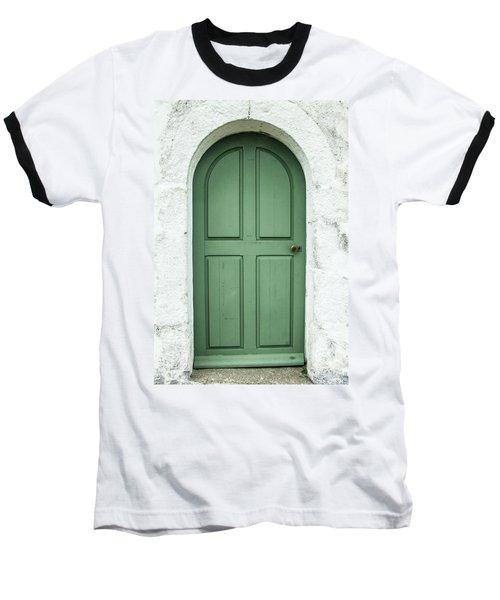 Green Church Door Iv Baseball T-Shirt