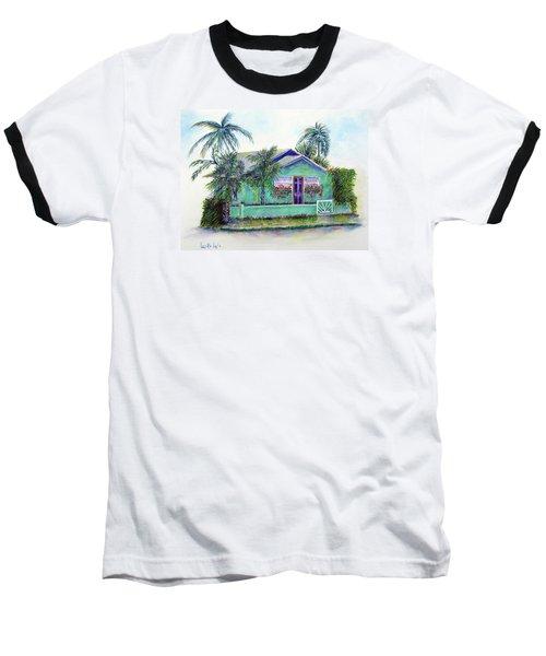 Green Cottage Baseball T-Shirt by Loretta Luglio