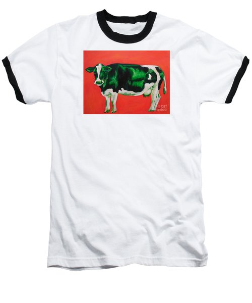 Green Cow Baseball T-Shirt