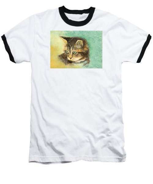 Green Eyes Baseball T-Shirt by Terry Webb Harshman