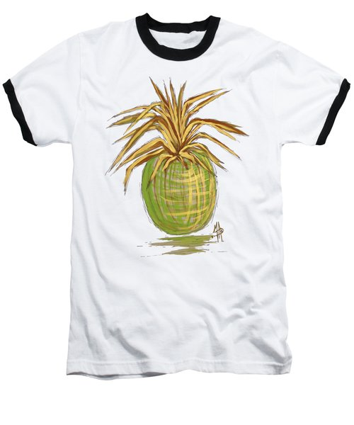 Green Gold Pineapple Painting Illustration Aroon Melane 2015 Collection By Madart Baseball T-Shirt