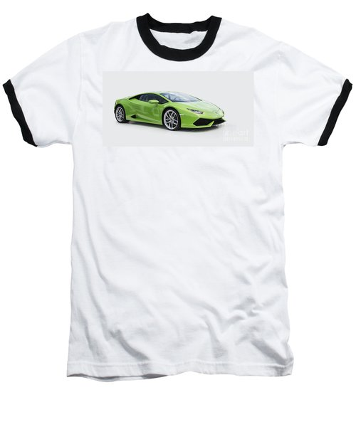 Green Huracan Baseball T-Shirt by Roger Lighterness