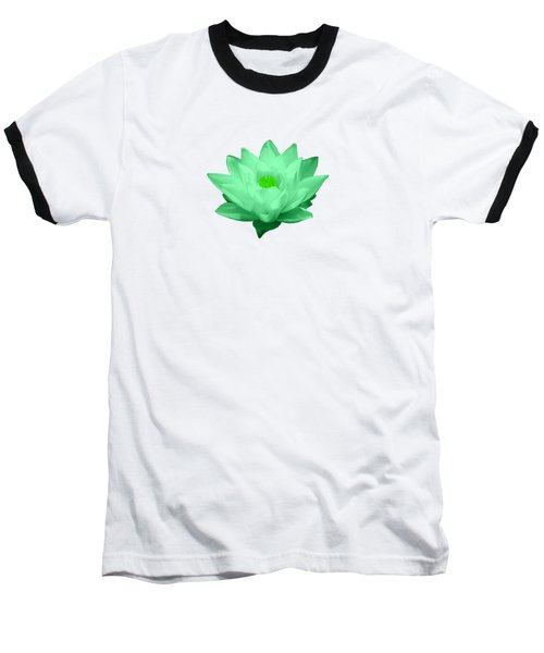 Green Lily Blossom Baseball T-Shirt