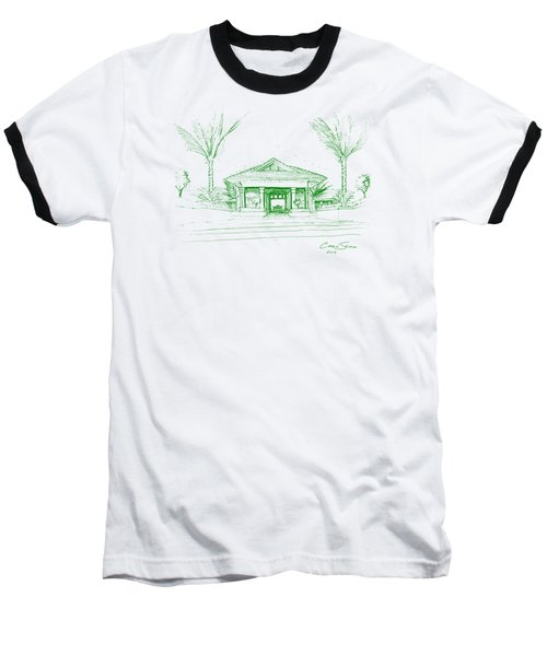 green lines on transparent background 10.28.Islands-8 Baseball T-Shirt