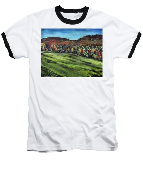 Baseball T-Shirt featuring the painting Green Mountain Retreat by Denny Morreale