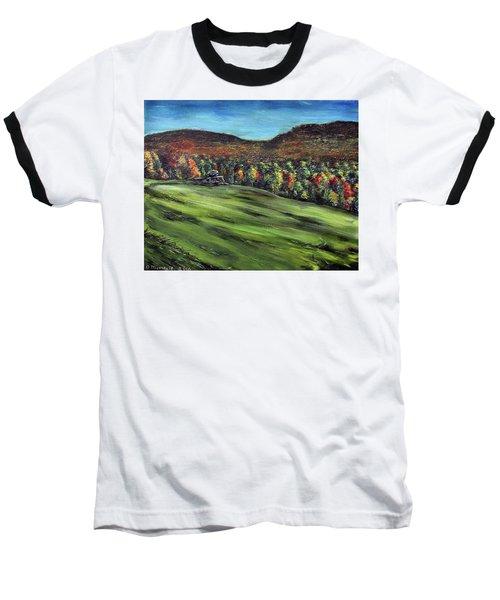 Green Mountain Retreat Baseball T-Shirt by Denny Morreale