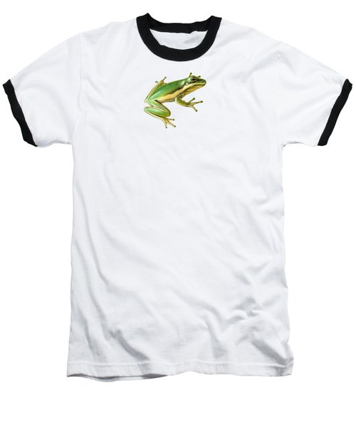 Green Tree Frog Baseball T-Shirt by Sarah Batalka