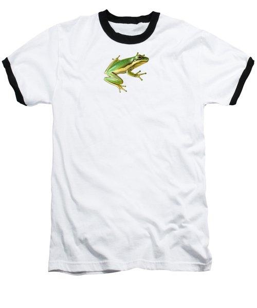 Green Tree Frog Baseball T-Shirt by Sarah Batalka