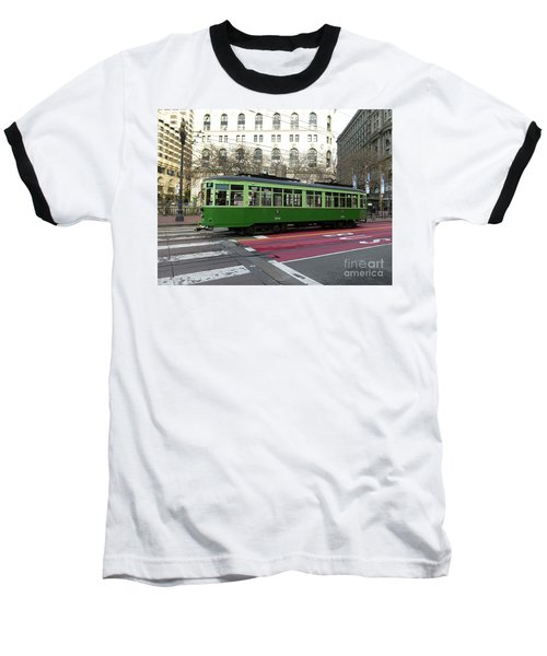 Green Trolley Baseball T-Shirt