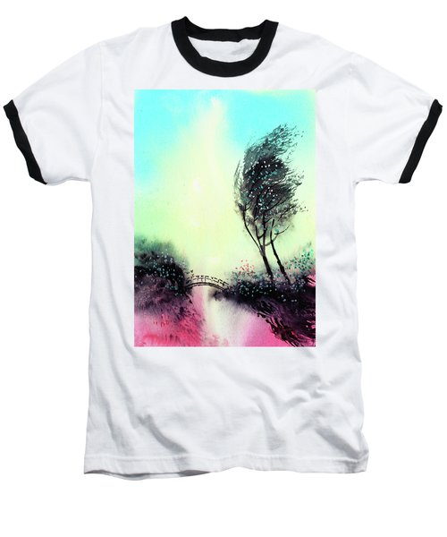 Baseball T-Shirt featuring the painting Greeting 1 by Anil Nene