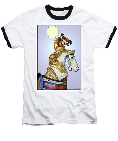 Baseball T-Shirt featuring the digital art Greeting The Moon by Lise Winne