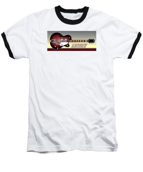 Gretsch Guitar Baseball T-Shirt by Anthony Citro