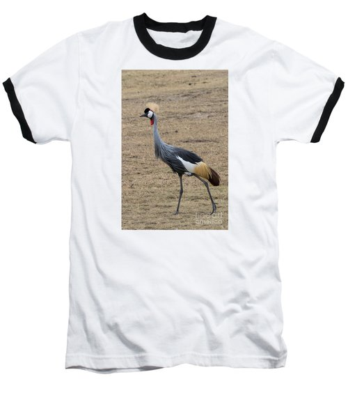 Baseball T-Shirt featuring the photograph Grey Crowned Crane In The Wild by Pravine Chester
