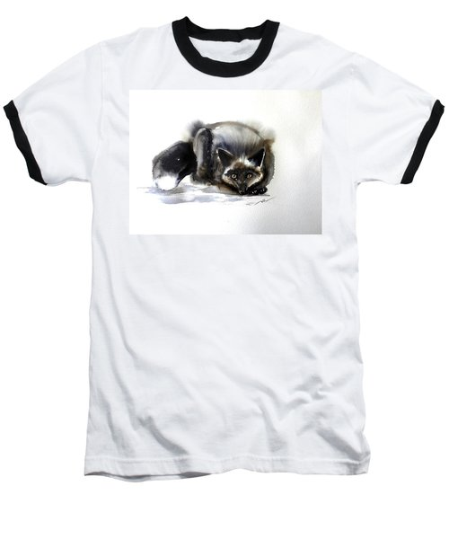Grey Fox 1 Baseball T-Shirt