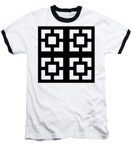 Grid 1 Transparent  Baseball T-Shirt