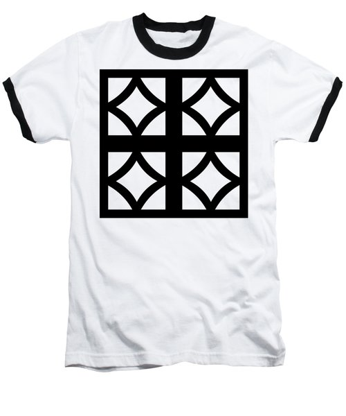 Grid 2 Transparent Baseball T-Shirt