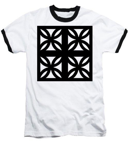 Grid 3 Transparent Baseball T-Shirt