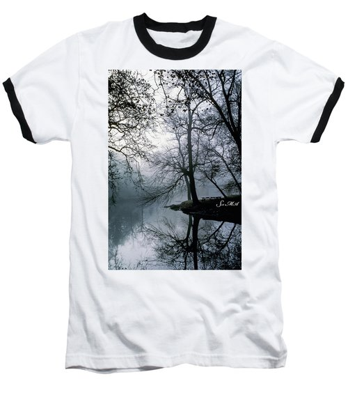 Grings Mill Fog 1043 Baseball T-Shirt by Scott McAllister