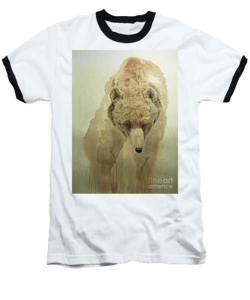 Baseball T-Shirt featuring the painting Grizzly Bear1 by Laurianna Taylor