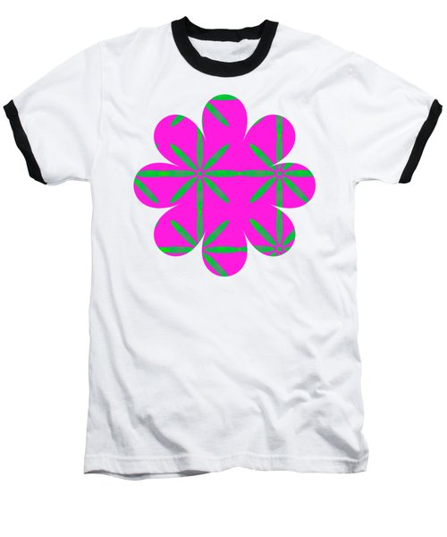 Groovy Flowers Baseball T-Shirt