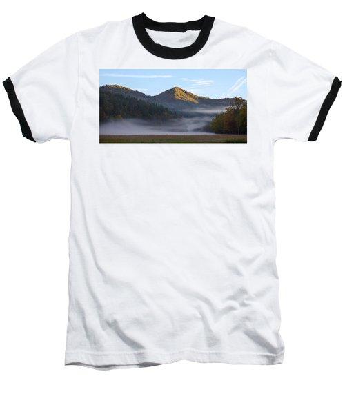 Ground Fog In Cataloochee Valley - October 12 2016 Baseball T-Shirt