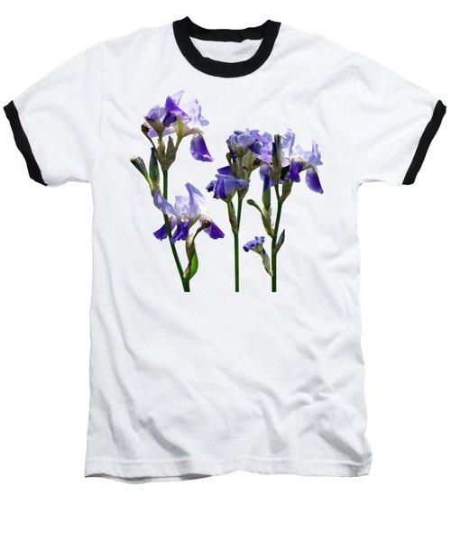 Group Of Purple Irises Baseball T-Shirt