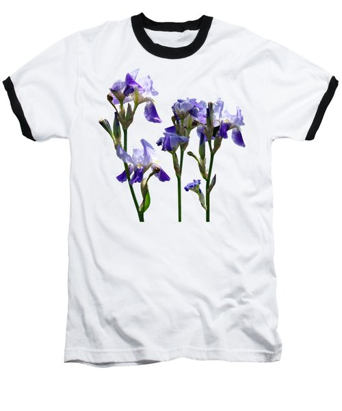 Group Of Purple Irises Baseball T-Shirt