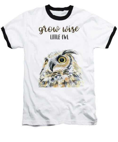 Grow Wise Little Owl Baseball T-Shirt