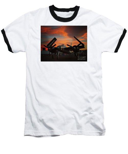 Grumman F7f Tigercat Fire Tiger Baseball T-Shirt