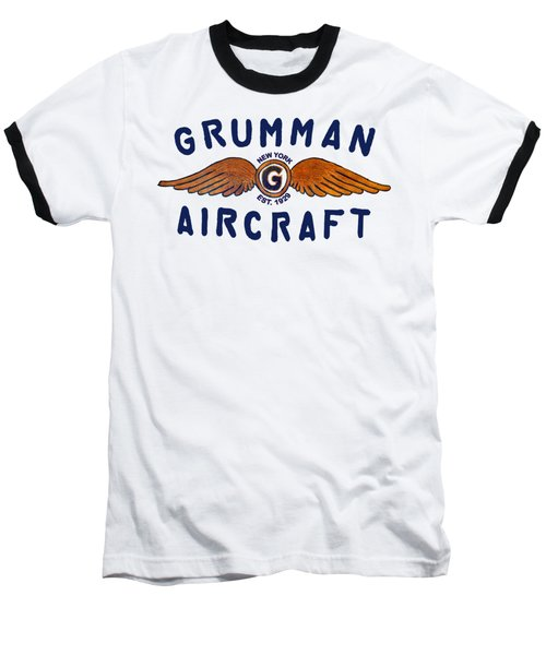 Grumman Wings Blue Baseball T-Shirt